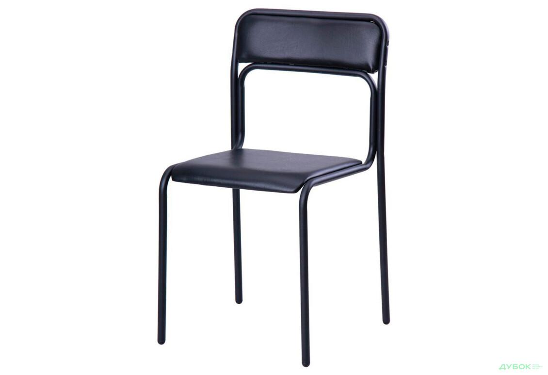 Крісло Аскона чорний, к/з чорний, арт.14921