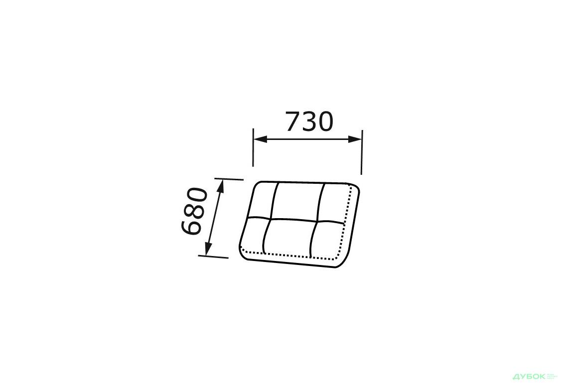 Freya / Фрея ST (стандарт) Подушка спинки мини дополнительная 73см