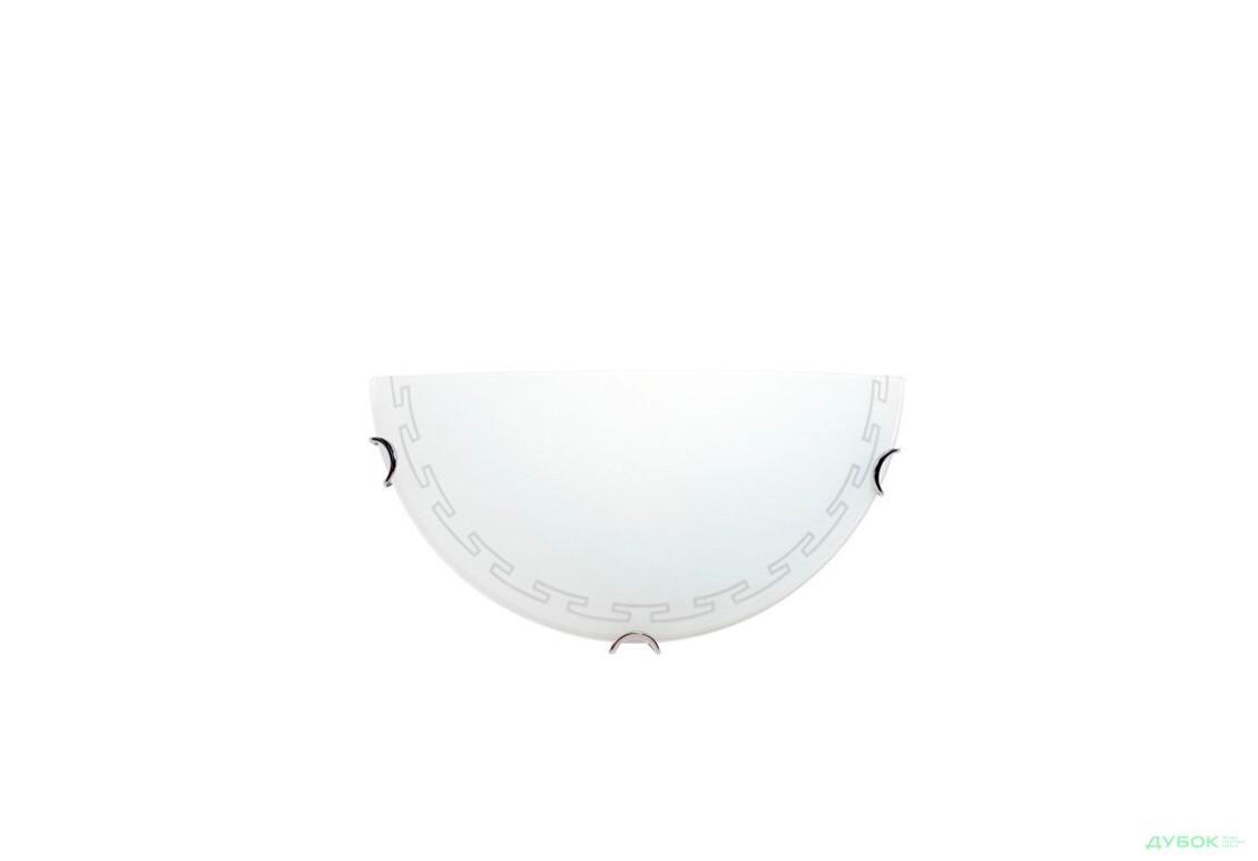 Греция белый 1х60 Вт, полукруг, арт.24071