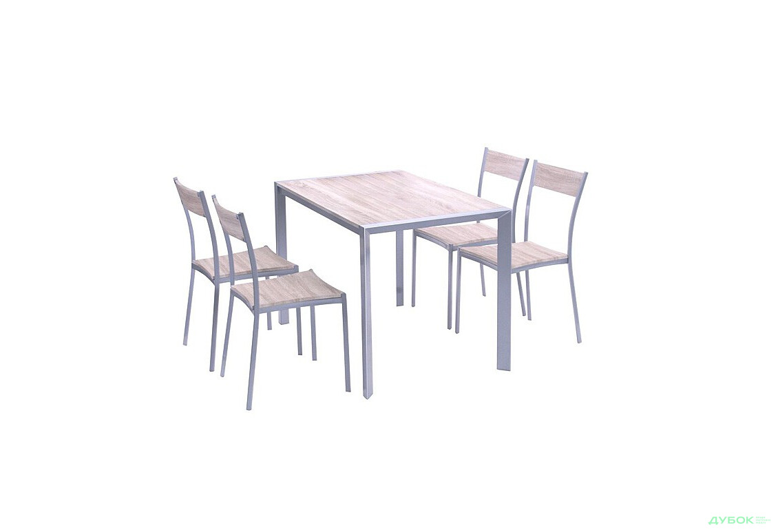Комплект Тимьян стол + 4 стула (YS2506M + YS2501M), арт.513437
