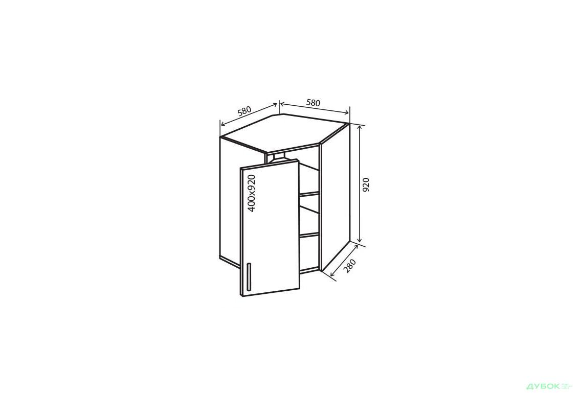 Модульна кухня Флет В54 Тумба 1Д 58