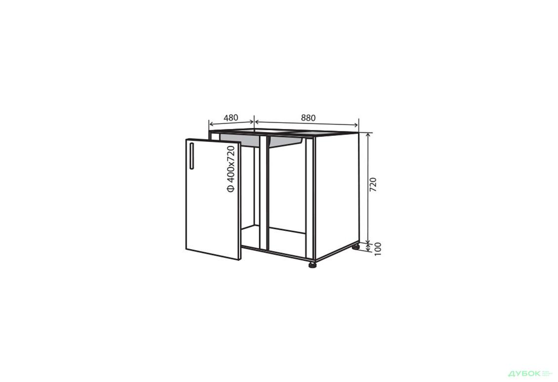 Модульна кухня Флет Н15 Заглушка мийка 1Д 88