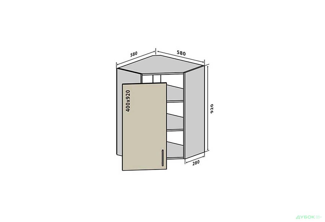 Модульная кухня Аморе Классик / Amore Classic В54 Тумба 1Д 58