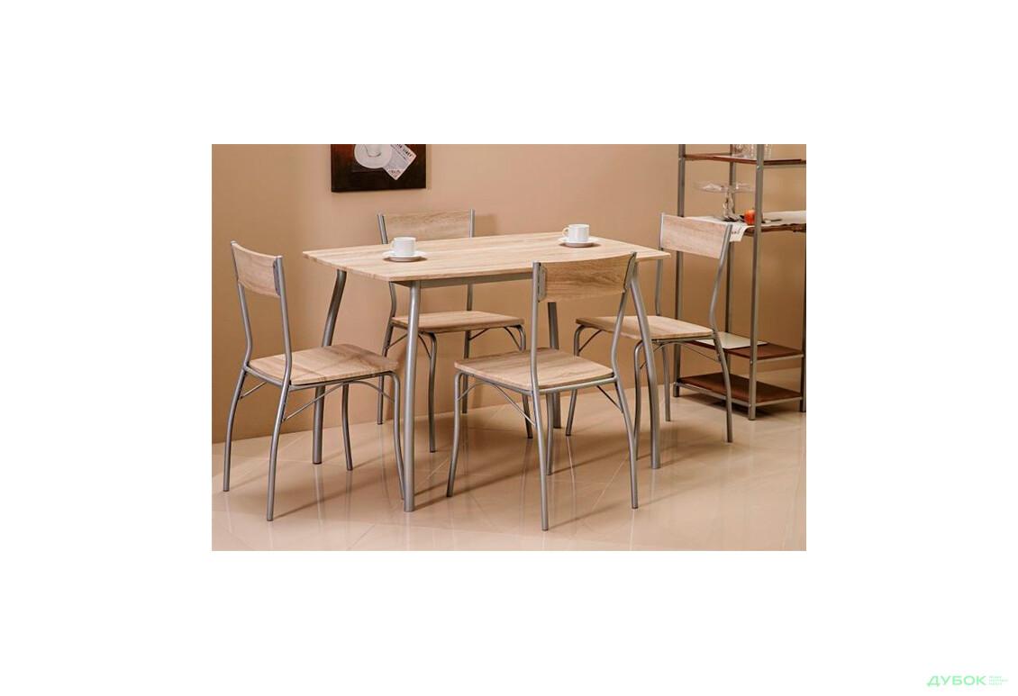 Комплект Modus стол + 4 стула дуб сонома, арт.MODUSD