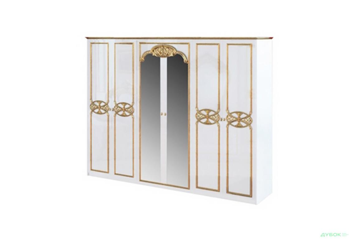 Модульная спальня Ева Шкаф 6Д  с зеркалами