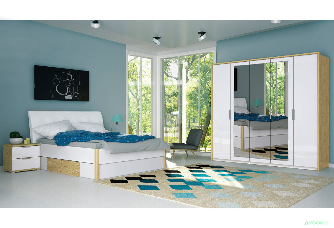Модульная спальня Флоренция Комплект 5Д
