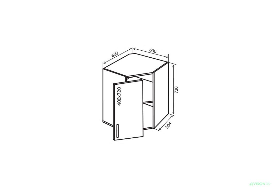 Модульна кухня Альта Люкс / Alta Luxe В14 Тумба кутова 1Д