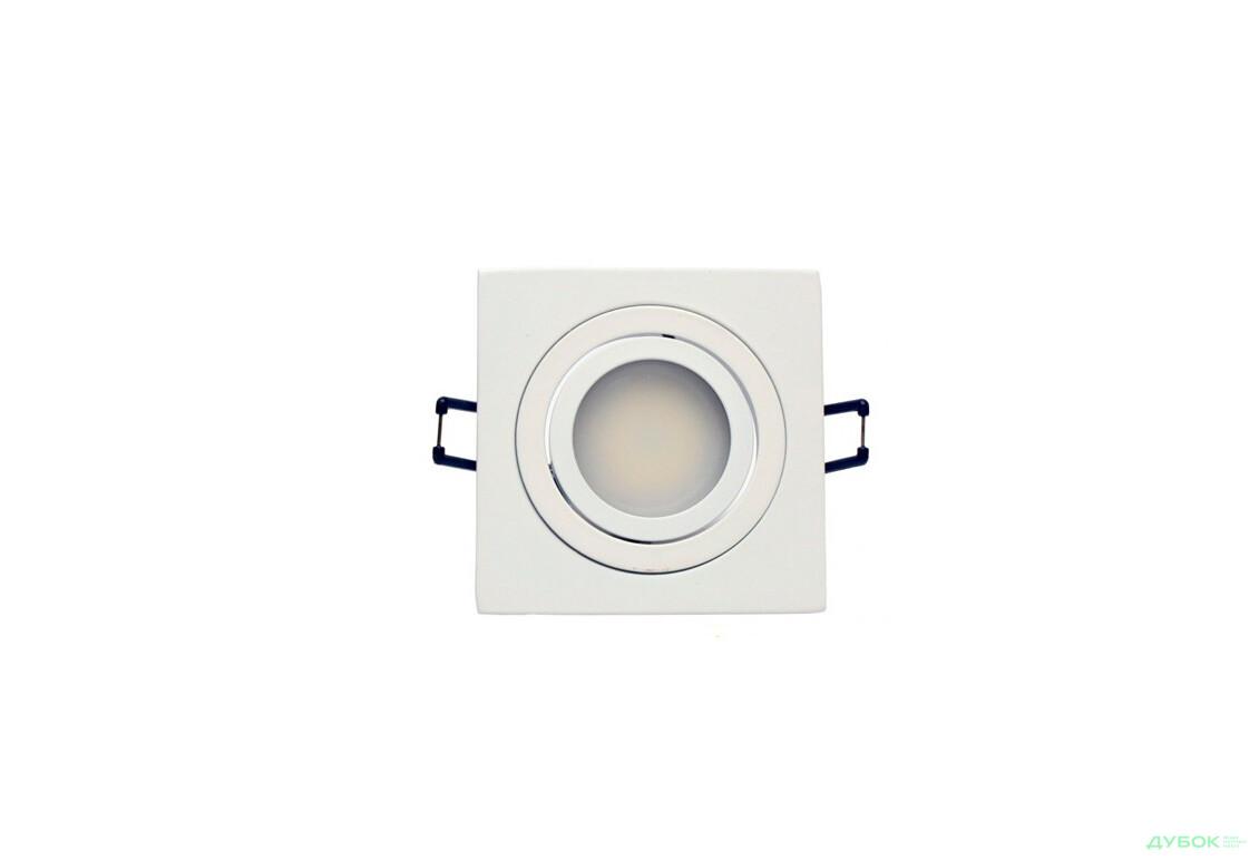 Свiтильник точковий, DL6120 MR16 алюмінієвий, квадрат поворотний G5.3