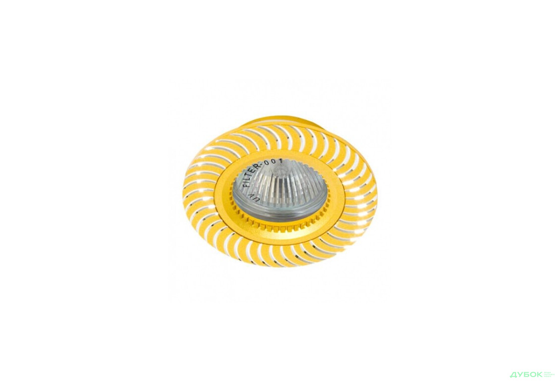 Свiтильник точковий, литво кольорове, GS-M369 MR16/G5.3/ золото