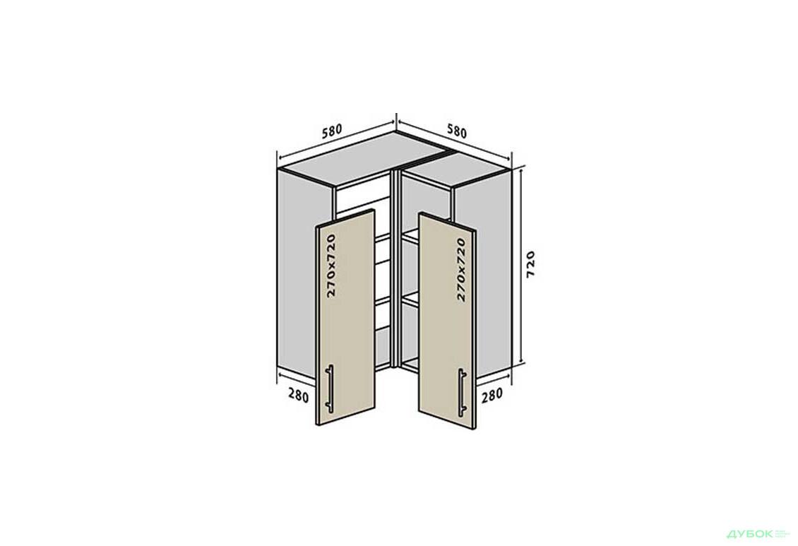 Модульна кухня Альта / Alta В18 Тумба кутова 58