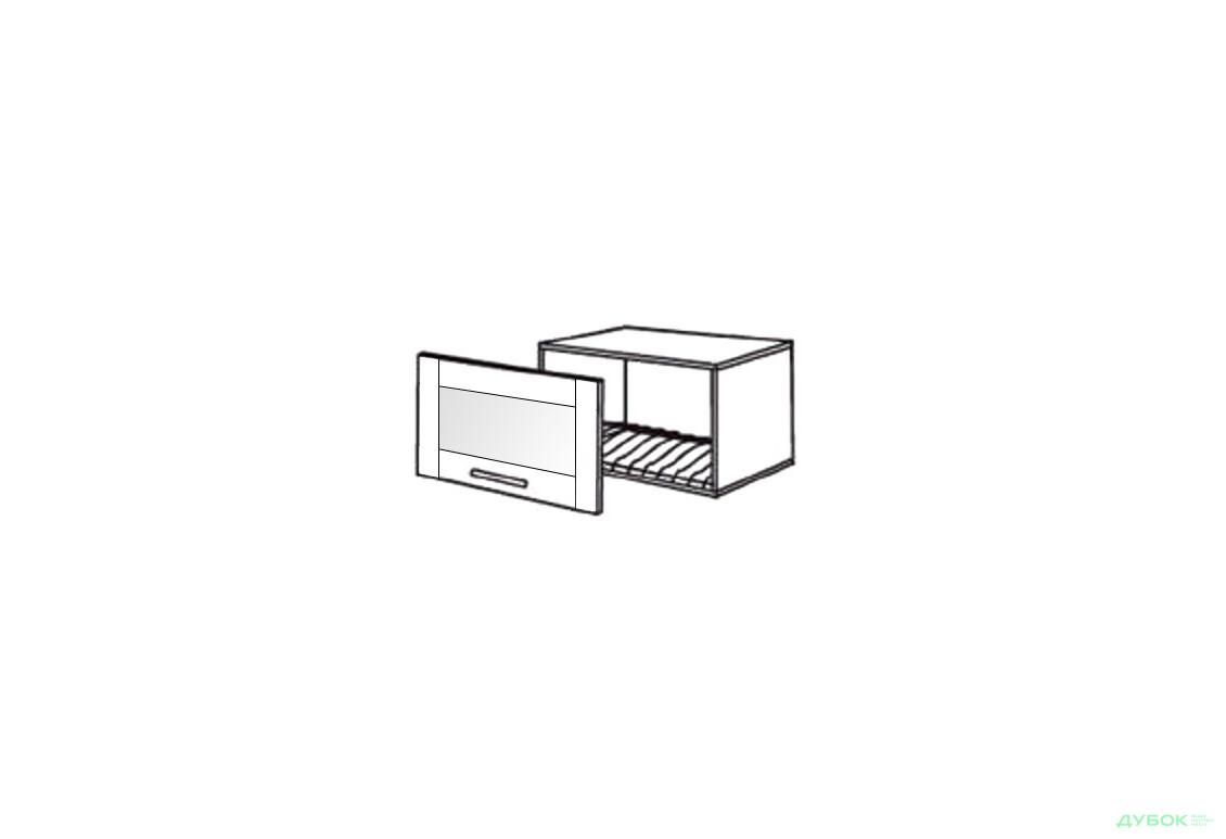 Шкаф нав. 600 ШКН 1101 для посуды (витрина)