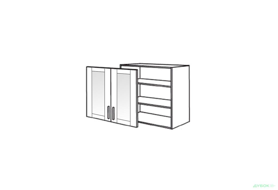 Шкаф нав. 800 ШКН 1095.1 (витрина)