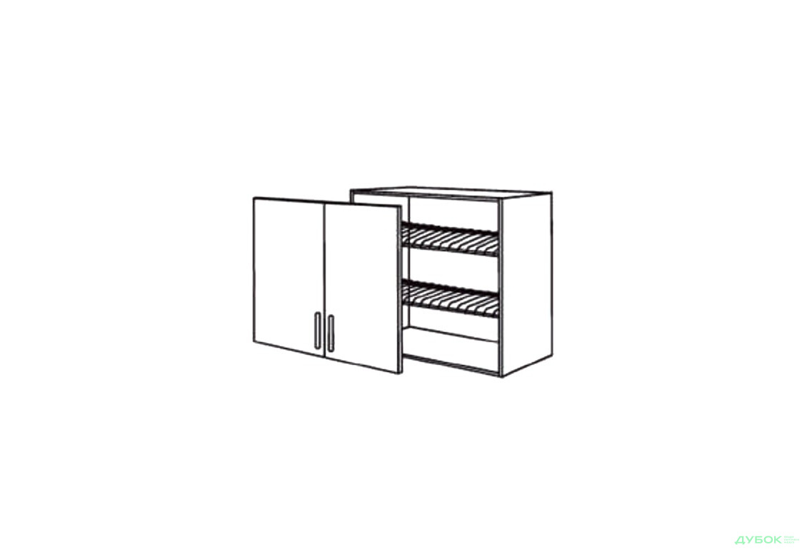 Шкаф нав. 800 ШКН 1096.1 для посуды