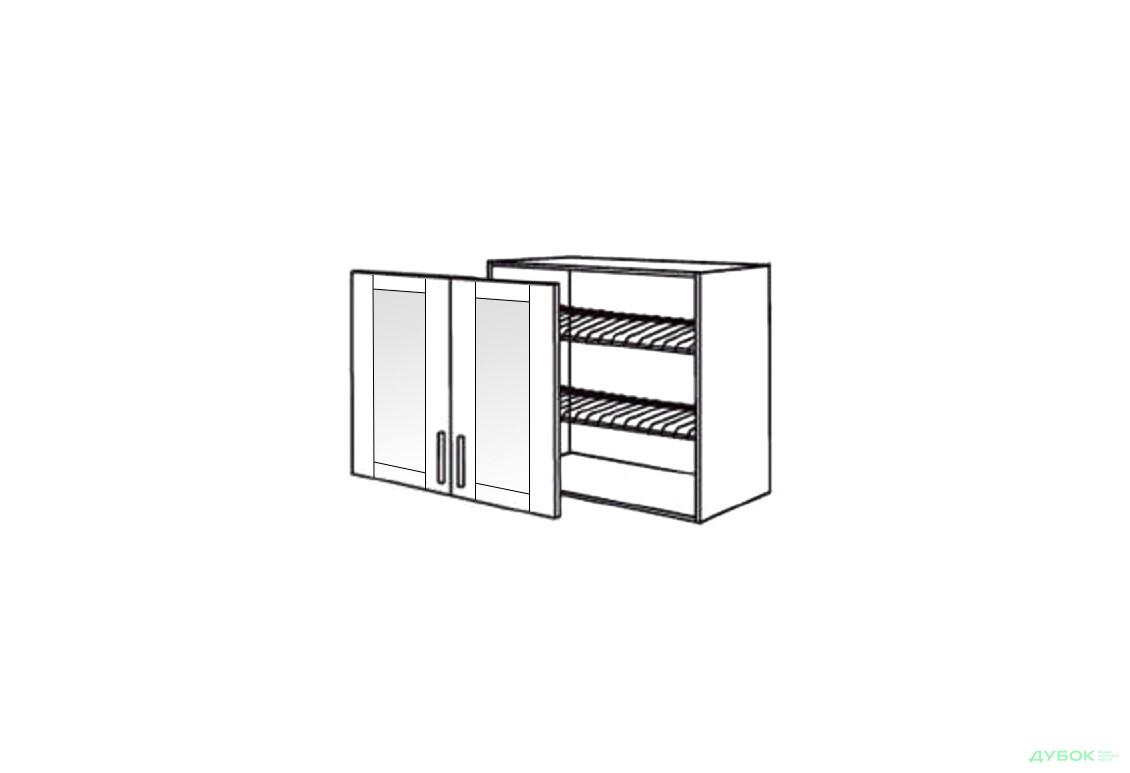 Шкаф нав. 800 ШКН 1096.1 для посуды (витрина)
