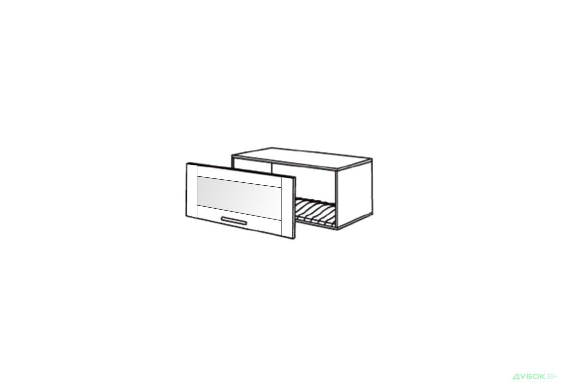 Шкаф нав. 800 ШКН 1101.1 для посуды (витрина)