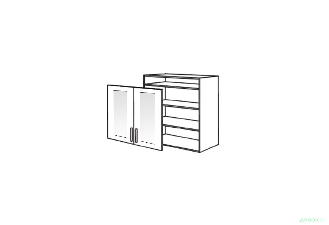 Шкаф нав. 800 ШКН 1105.1 (витрина)