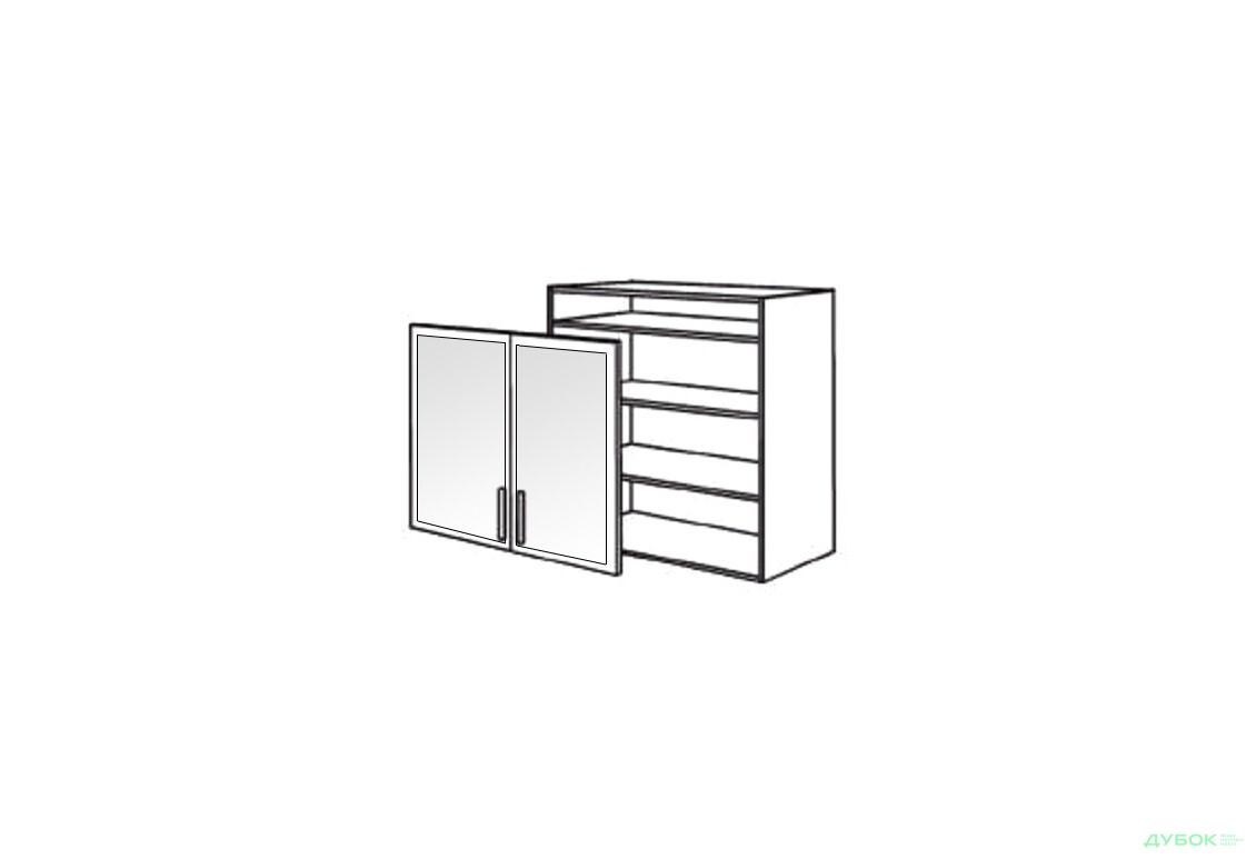 Шкаф нав. 800 ШКН 1105.1 (витрина-алюм.)