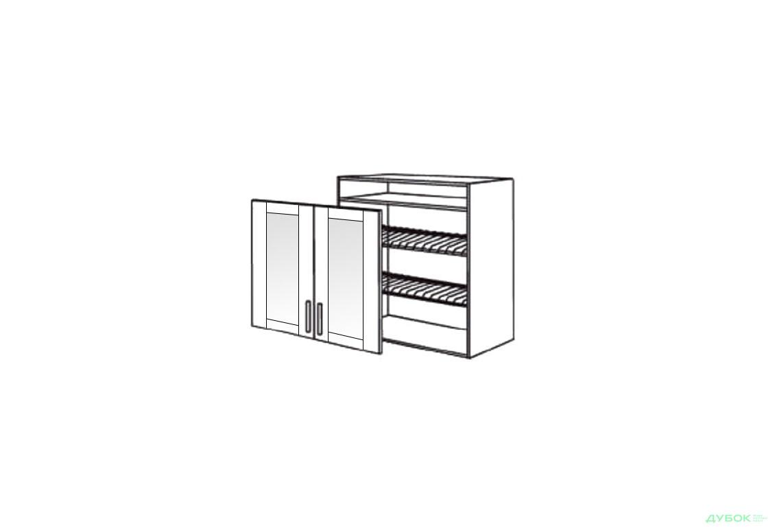 Шкаф нав. 800 ШКН 1106.1 для посуды (витрина)