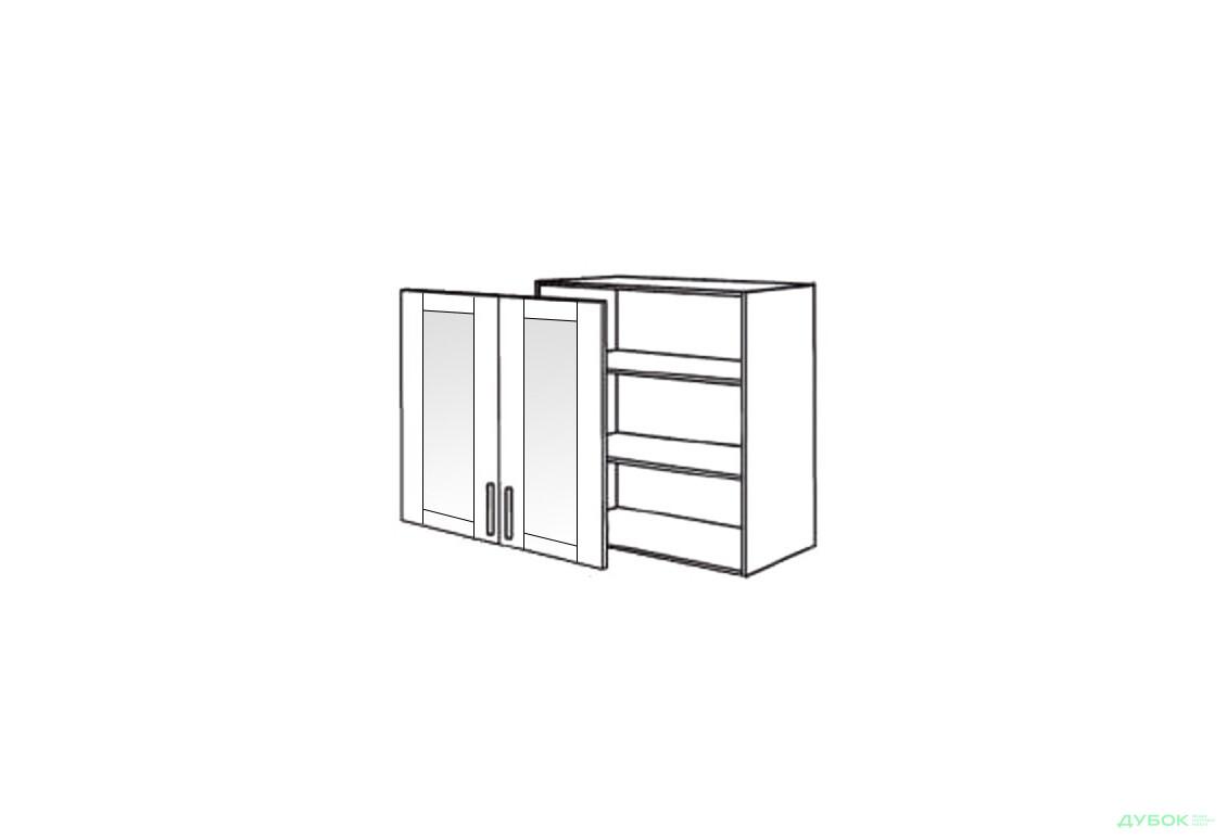 Шкаф нав. 800 ШКН 1109.1 (витрина)