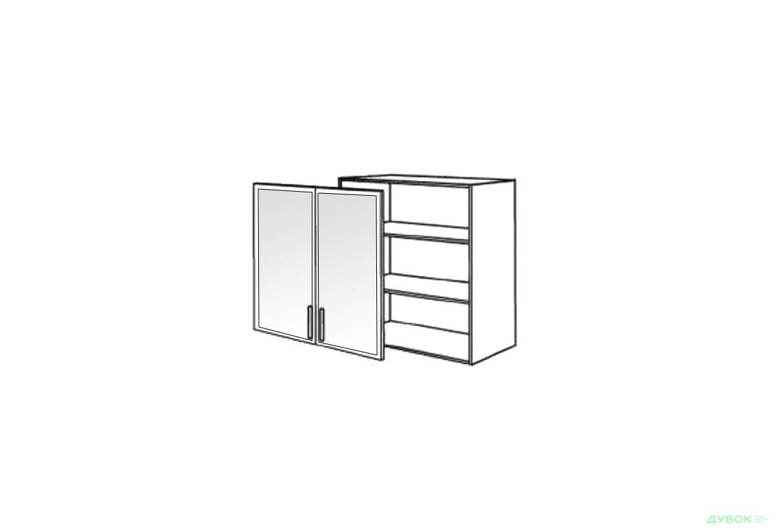 Шкаф нав. 800 ШКН 1109.1 (витрина-алюм.)