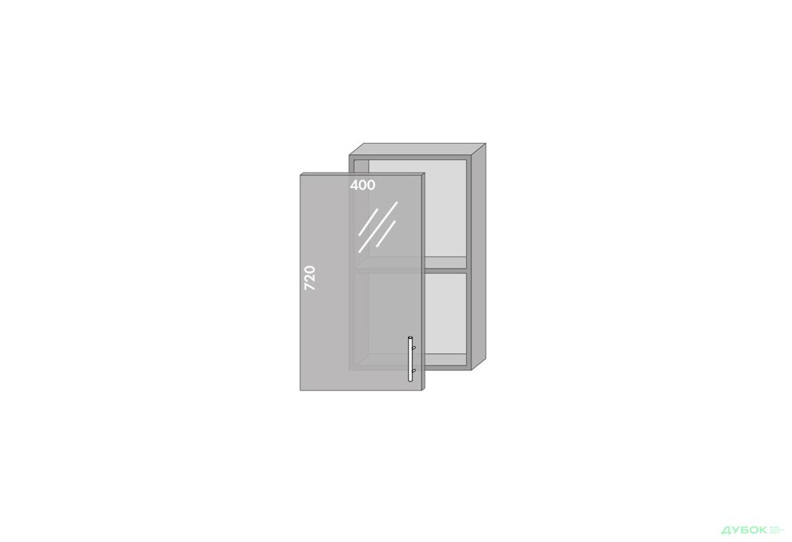 Модульная кухня Престиж Роял / Prestige Роял Верх 40 витрина