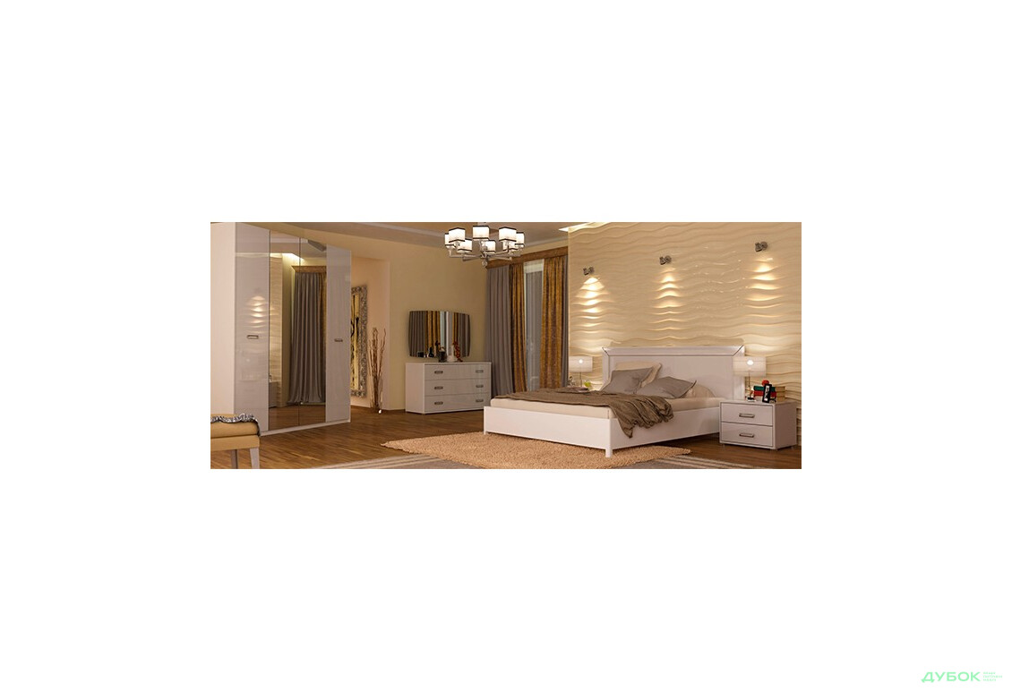 Модульная спальня Бэлла (белая) Комплект 4D (с зеркалами)