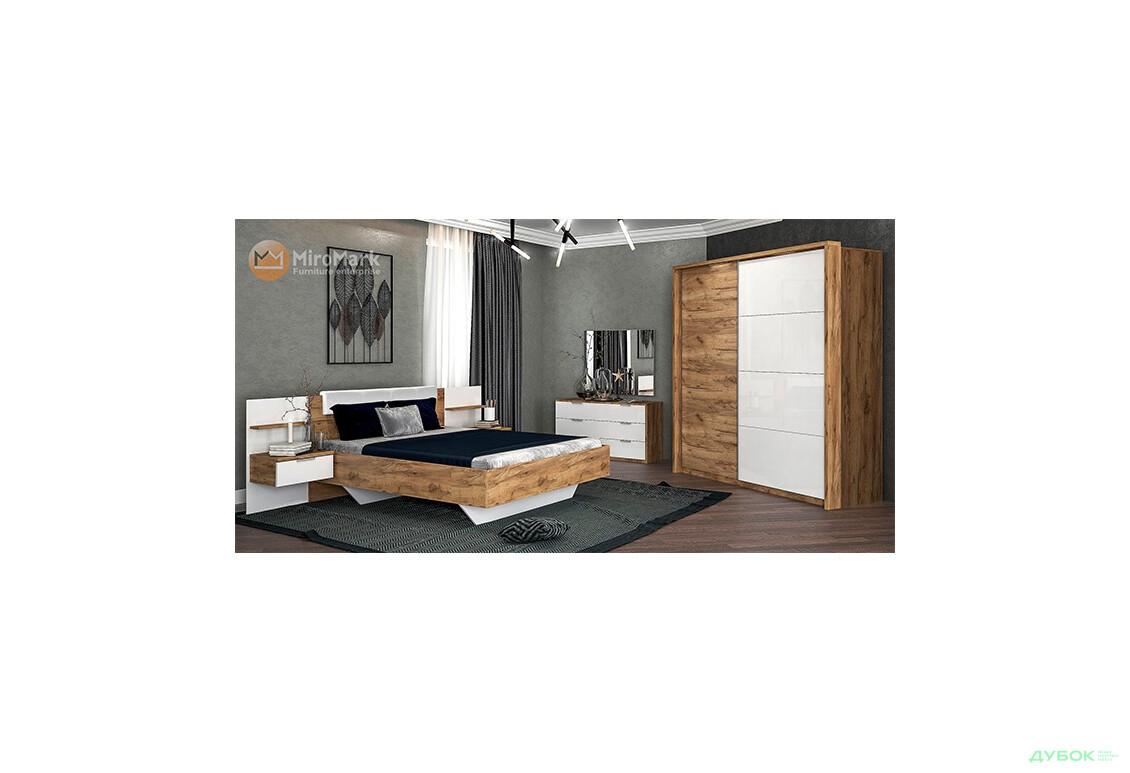 Модульная спальня Асти Комплект со шкафом-купе 2.0