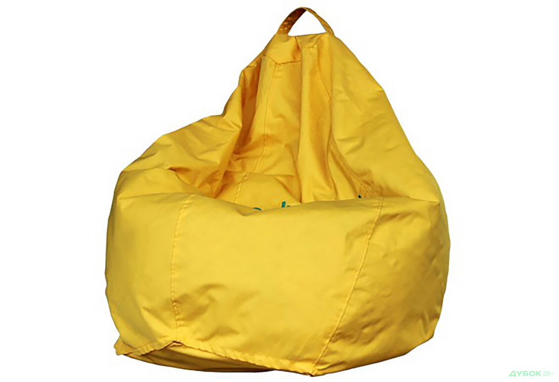 Кресло-груша желтая 115х85