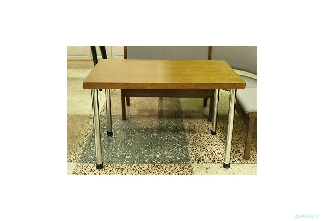 Стол: Столешница Порто 1200х700 Табак+База Кая хром