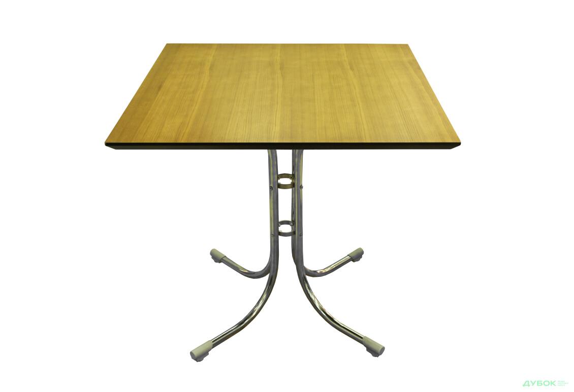 Стол: Столешница Сакура 800х800 Орех+База Соня Нью Хром