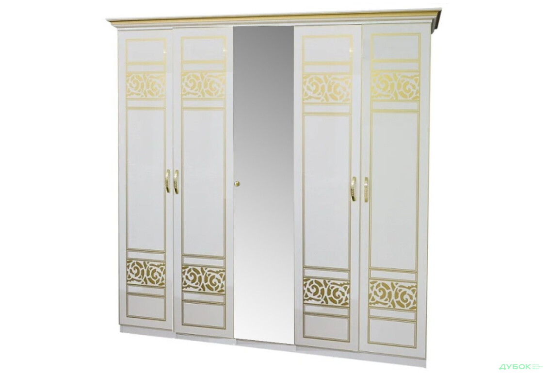 Модульна спальня Поліна Нова NEW Шафа 5ДЗ (1 дзеркало)