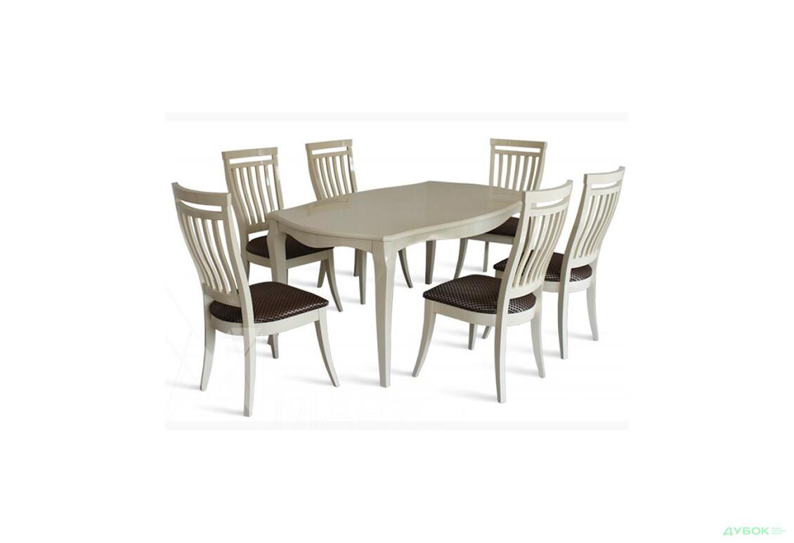 Стол Маркиз 160(+44)х92 + стулья Маркиз-2/6шт
