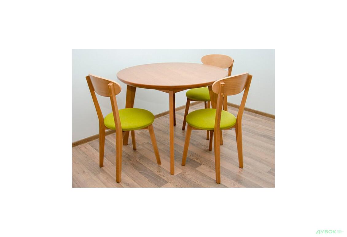 Комплект: стол Марс D100, круглый + стулья Гелена New/3шт