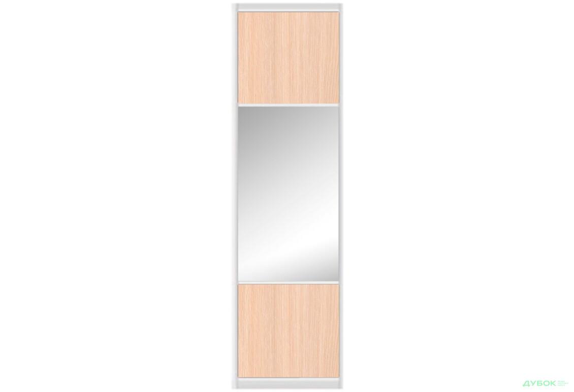Шафа-купе 2Д 1.8 м Фасад Ф-880 AL ДСП комбі / дзеркало
