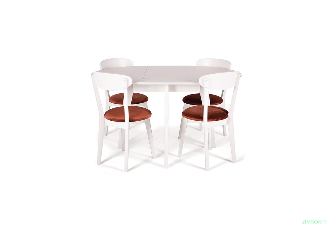 Комплект: стол Марс D100 (+40), круглый + стулья Гелена New/4шт