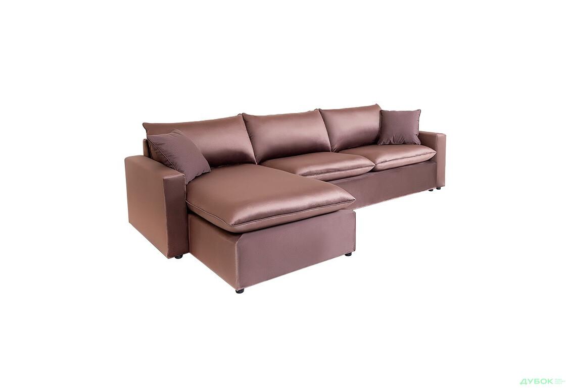 М'яка система Вашингтон Кутовий диван: База не розкл. кутова (2,9 м.) в одній тканині + подушки вел.3шт, малі 2шт, в одній тканині