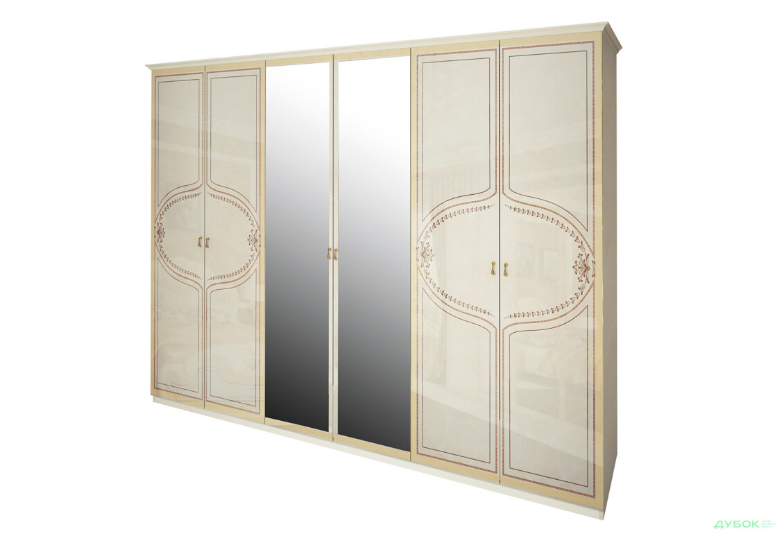 Модульная спальня Мартина Шкаф 6Д  с зеркалами