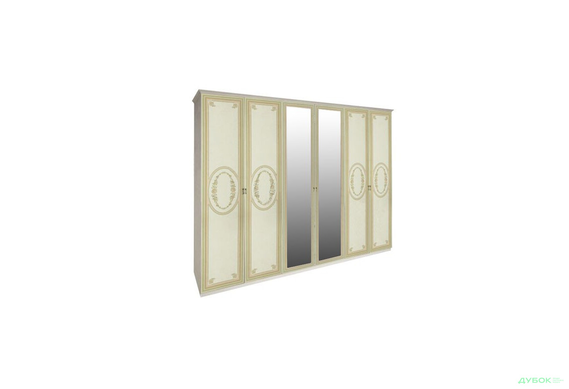 Модульна спальня Прімула / Primula Шафа 6Д (із дзеркалами)