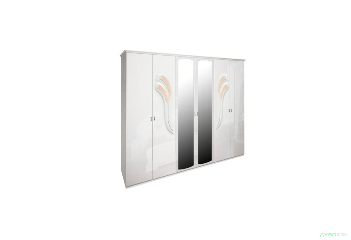Модульная спальня Лола / Lola Шкаф 6Д из зеркалами