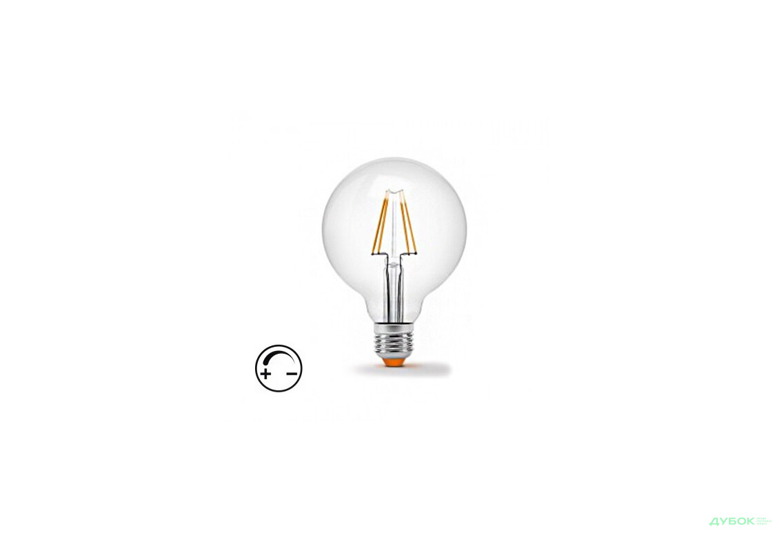 LED Filament G95FD 7W E27 4100K 220V диммерная