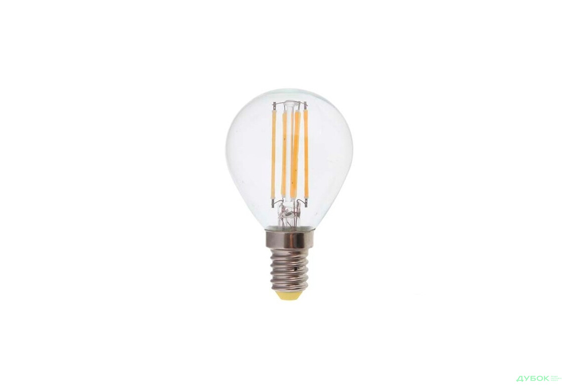SALE Лампа свiтлодiодна LB-61 P45 230V 4W E14 2700K FILAMENT Виставкова
