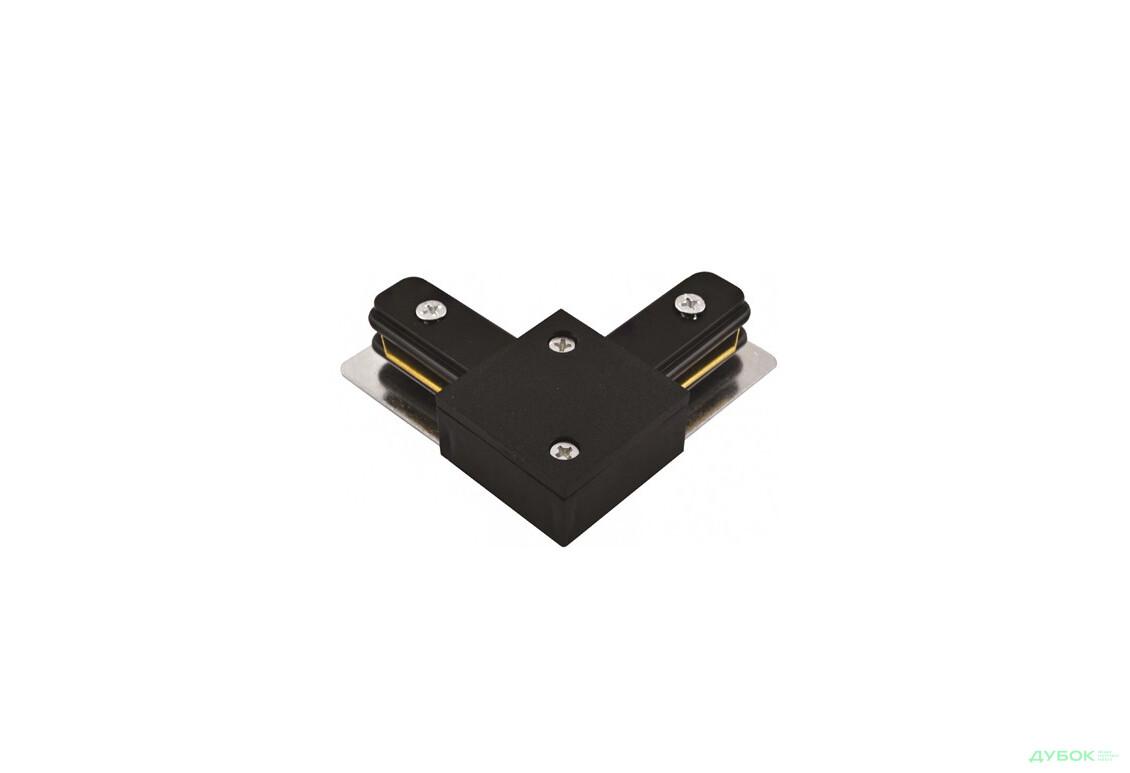 LD1001 коннектор угловой для шинопровода однофазного, черный
