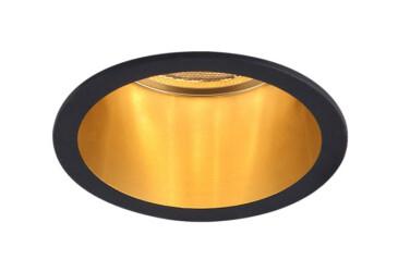 Точечный светильник DL6003 MR16/G5.3 черный+золото Feron