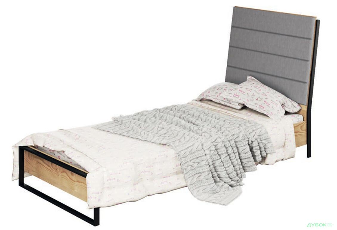 Дитяча Лофт Ліжко 1-сп з похилим бильцем (б/матрацу та каркасу)