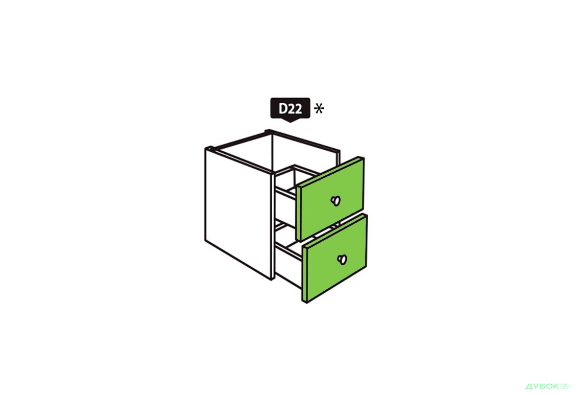 SALE Модуль D22 Белый / оливковый