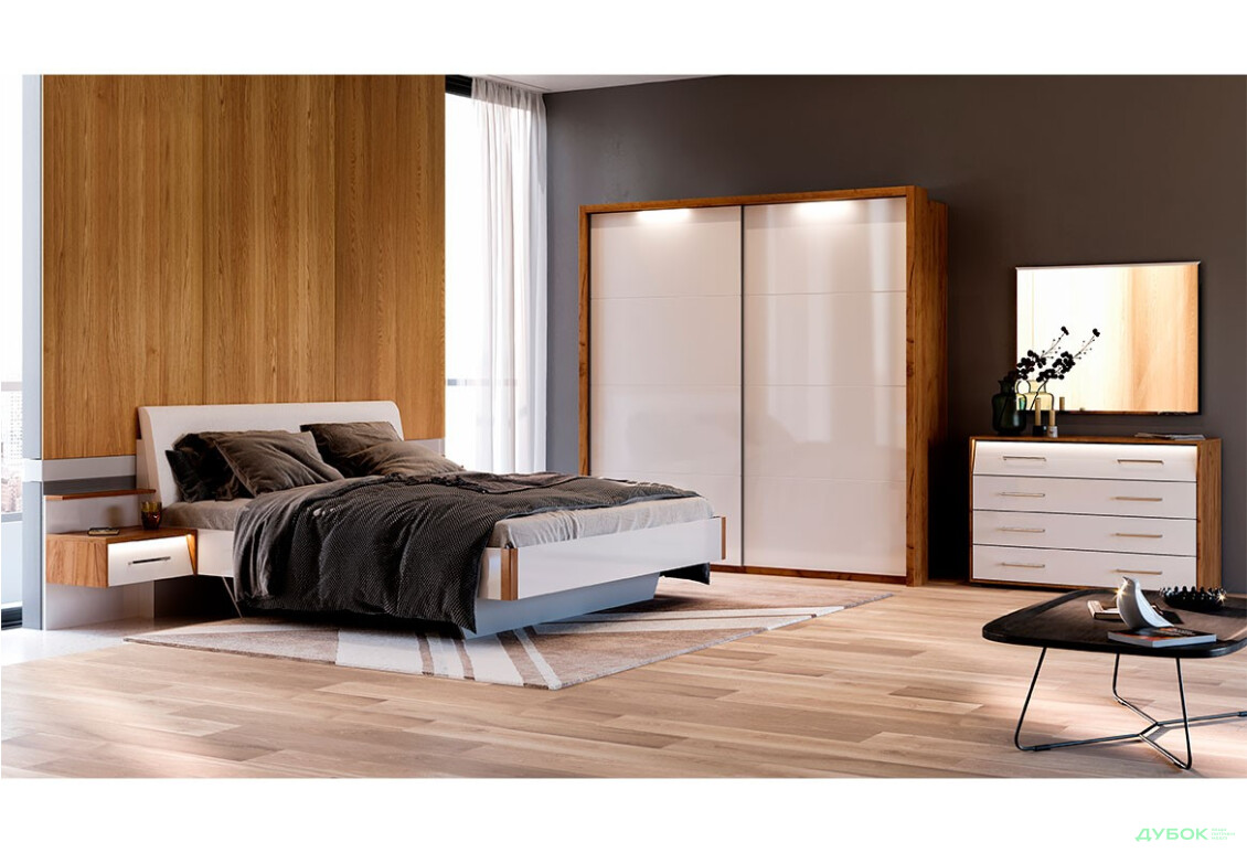 Спальня Ники Комплект со шкафом-купе 2.0