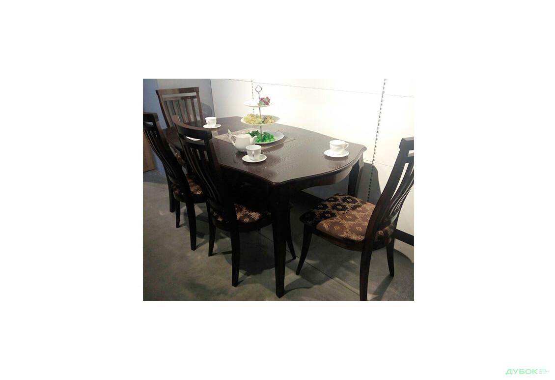 SALE Стол Маркиз 160(+44)х92 + стулья Маркиз-2/4шт Орех / Декор: Marcel 18
