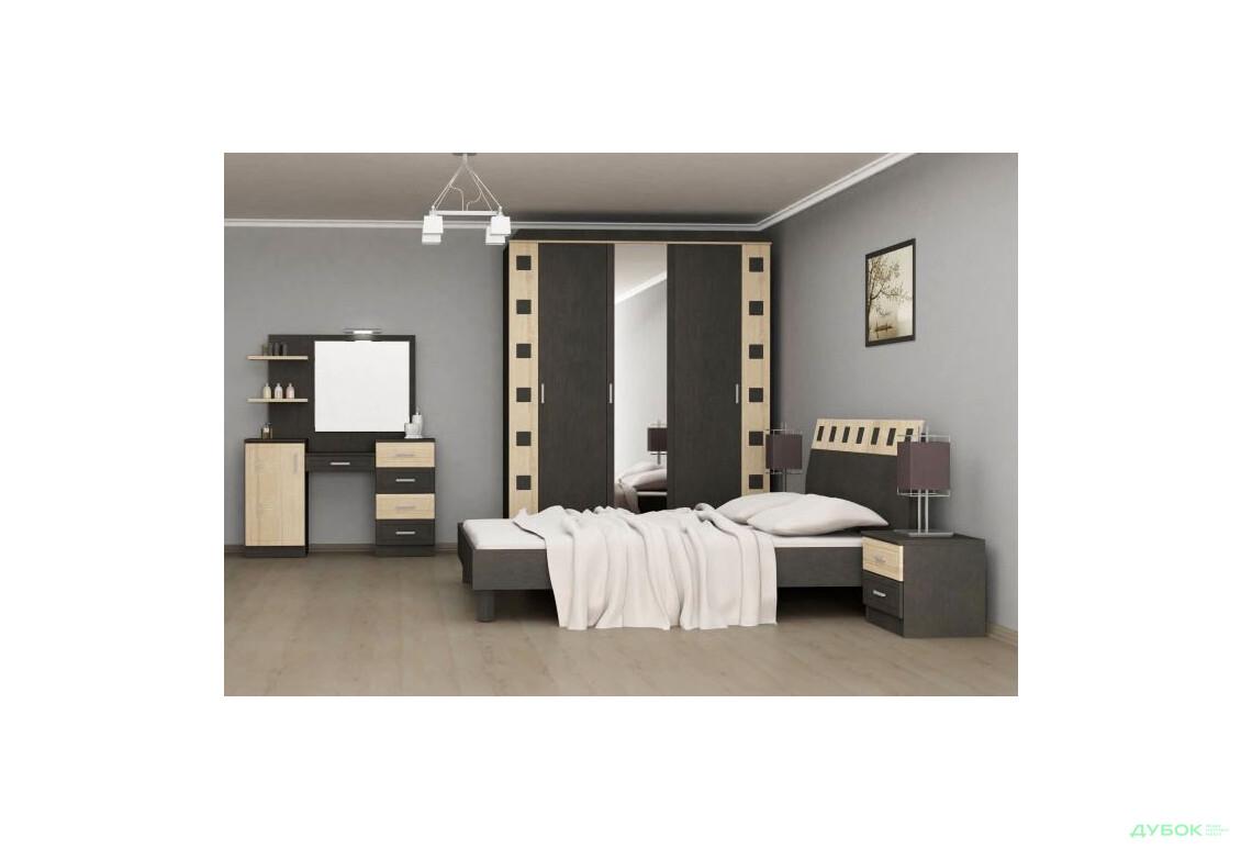 Спальня Айнур Комплект 3Д з туалетним столиком (без ламелей та матрацу)