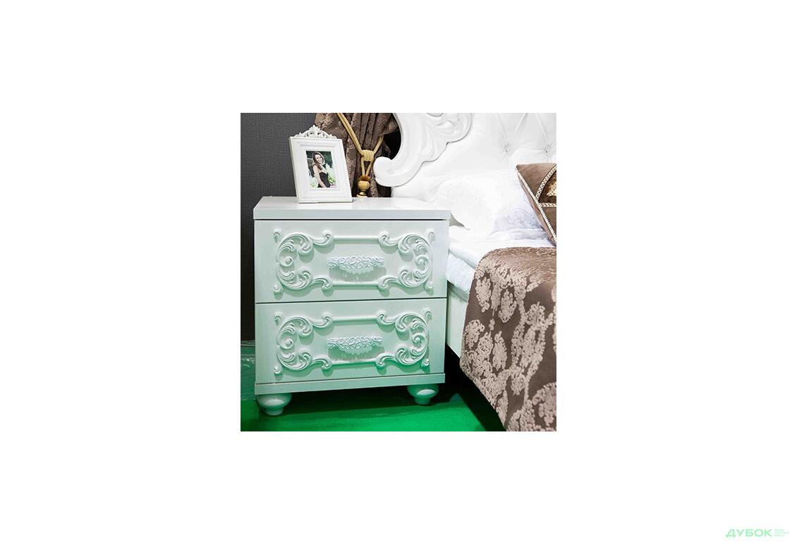 Модульная спальня Лючия (белая) УЦЕНКА Тумба прикроватная Выставочная собрана (Поврежден угол крышки)