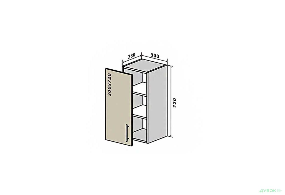 RioLine / РиоЛайн Глянцевая В2 Тумба 1Д 30